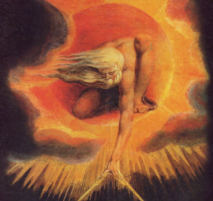 """El anciano de los dias"". Pintura visionaria de William Blake, 1794."