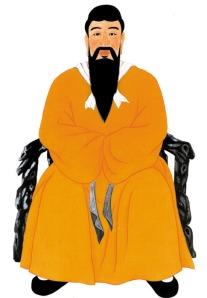 Tan Kun, el Emperador chamán fundador de Choson, la primera dinastía Coreana.2333 a.C.