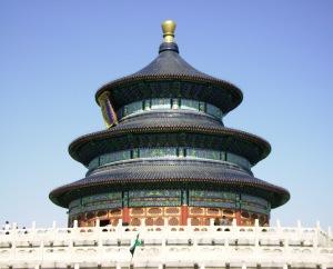 Templo del Cielo. Peking. Donde el emperador Chino realizaba ofrendas de sacrificio en el solsticio.