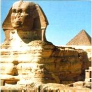 Egipto. La esfinge y las pirámides.