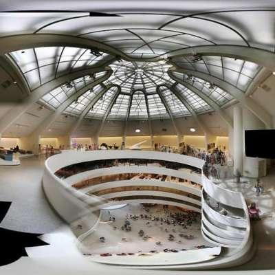 Interior del museo Guggenheim de Nueva York.